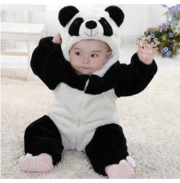 Panda Shape Cotton Romper Siamese