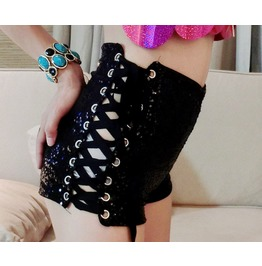 Jazz Jazz Singer Sequined Costumes Bandage High Waist Shorts Beach Shorts