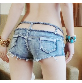 Sexy Nightclub Thin Shorts Hipster Jeans Shorts Beach Shorts