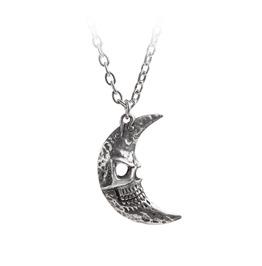 M'era Luna Crescens Tragicom Moon Unisex Gothic Pendant By Alchemy Gothic