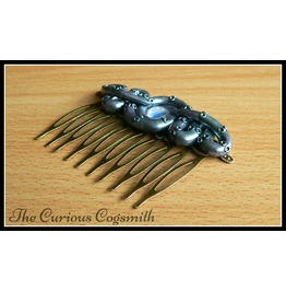 Silvery Purple & Blue Lovecraft Inspired Tentacle Hair Comb