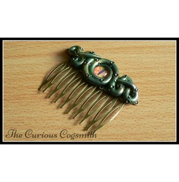 Yellow & Green Lovecraft Inspired Tentacle Hair Comb