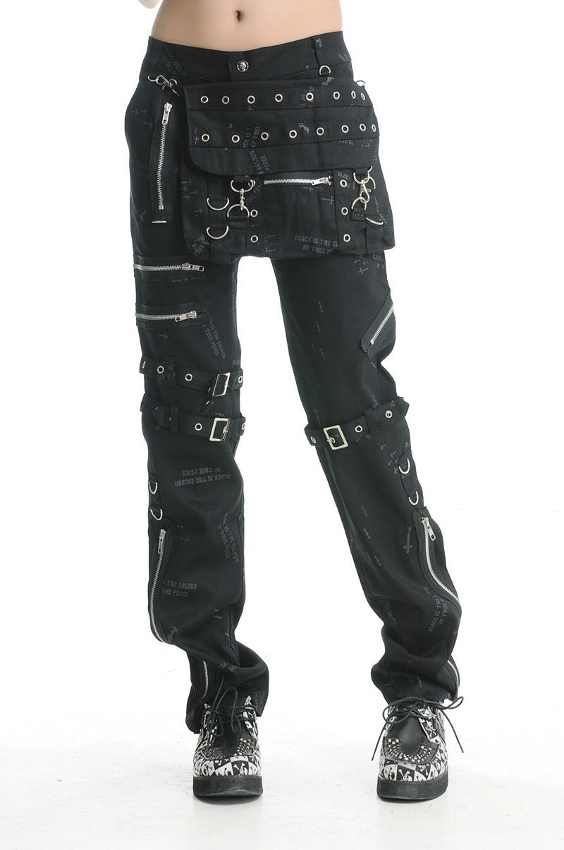Perfect TRIPP NYC BONDAGE GOTHIC PUNK EMO GOTH BLACK PANTS AF267  EBay