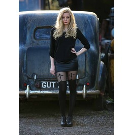 Pamela Mann Goth Cross Suspender Tights