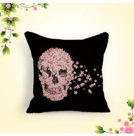 Fashion New Cotton Classic Personality Skull Flowers Cotton Pillow