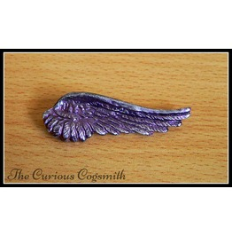 Pink & Silver Wing Brooch