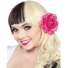 Sourpuss Polka Dot Flower Hair Clip