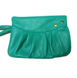 Turquoise Lamb Leather Pouch Stud Loli