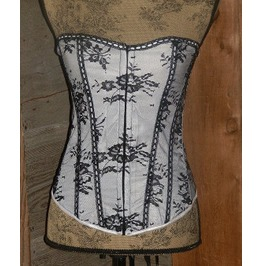 White And Black Corset