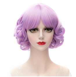 Short Curly Synthetic Scene Wig