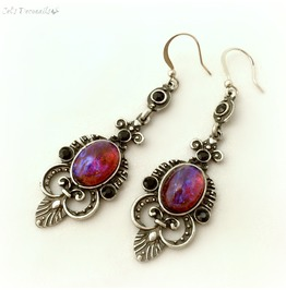 Dragon's Breath Medieval Fantasy Dangle Earrings