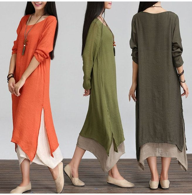 Bohemian Maxi Dress Long Sleeve Gypsy
