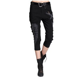 Cropped Punk Womens Pant