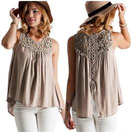 Summer Vest Top Sleeveless Shirt Blouse Casual Tank Tops T Shirt