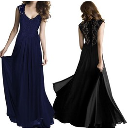 Summer Long Maxi Evening Party Cocktail Prom Formal Chiffon Dress