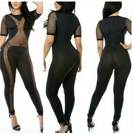 Mesh Middle Sexy Jumpsuit
