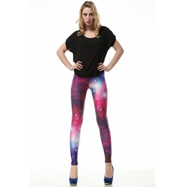 Purple Sky Space Galaxy Leggings Pants