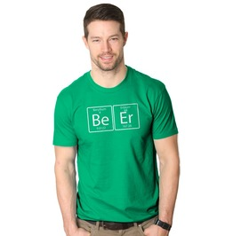 Mens Beer Element Shirt. Funny Drinking Science Shirt.