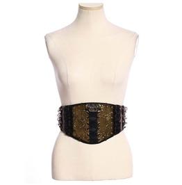 Women's Steampunk Metal Buckle Waist Belt Elastic Cummerbund B163