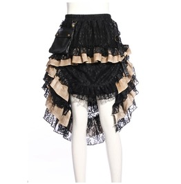 Women's Steampunk Lace Ophelie Skirt Black B167
