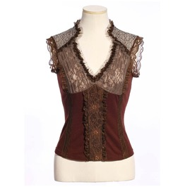 Women's Steampunk Lace Ruffles Tops B165