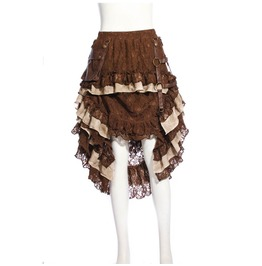 Women's Steampunk Lace Ophelie Skirt Coffee B167