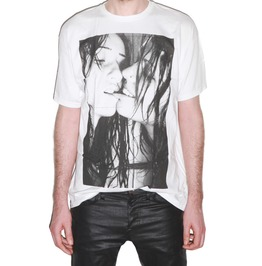 Sexy Kissing Girls Punk Rock Festival Crew Neck Tee Shirt Men White