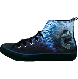 Men's High Top Laceup Black Sneakers