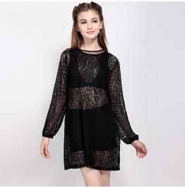 Women's Casual Sheer Crochet Dress