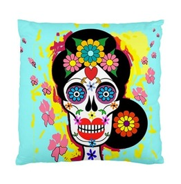 Sugar Skull Day Of The Dead Double Sided Art Cushion Cover