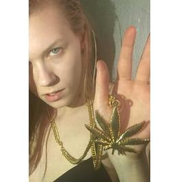 California Dope Weed Marijuana Leaf Necklace