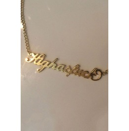 Highasfuck Gold Jewelry Dope Drugs 90s Grunge And Punk Necklace
