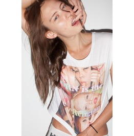 Porn Is The New Religion Rave Techno Edm Crew Neck Top For Women