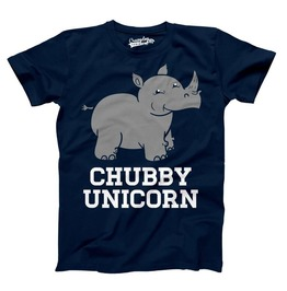 Mens Chubby Unicorn Rhino Shirt. Funny Guys T Shirt.