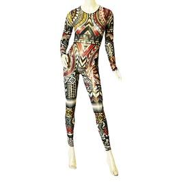 100% Mesh Jumpsuit Bodysuit
