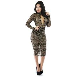 Lace Midi Sexy Dress