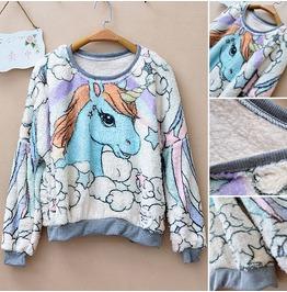 Pony Sweater Sudadera Wh004