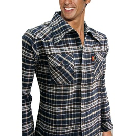 New Men Flannel Plaid Check Western Lumberjack Long Sleeve Shirt Size M