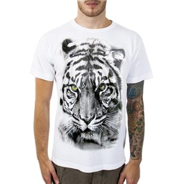 New Men Lady Graphic Tiger Cotton T Shirt Graphic Size L