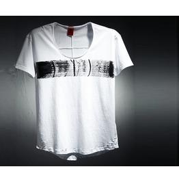 Center Line Painting Damage Loose T Shirt