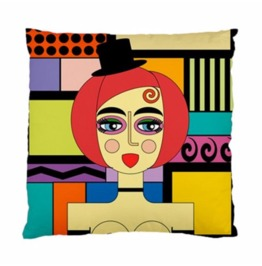 Burlesque Dancer With Top Hat & Gloves Double Sided Art Cushion Cover