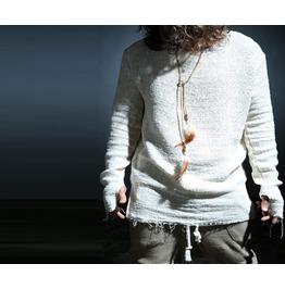 Men's Fashion Bold Gauze Loose Boxy One Size Round T Shirt