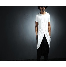 Mens Men's Cutting Pattern Unbalance T Shirts