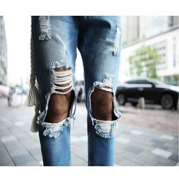 Vintage Men's Real Denim Destroyed Jeans / Blue Jeans / Vintage Jeans / Men