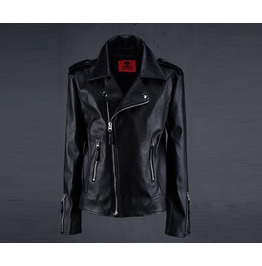 Men's Basic Leather Jacket