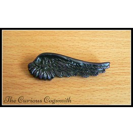Black & Purple Wing Brooch
