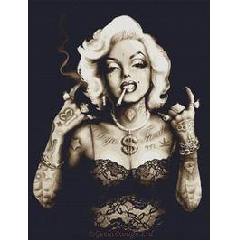 Gangster Marilyn Monroe Modern Cross Stitch Kit