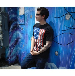 "Men's Soft Ringspun Cotton ""American Flag"" Tee"