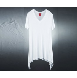 Men's Side Unbalance V Neck T Shirt