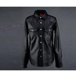 Men's Leather Western Shirt Jacket